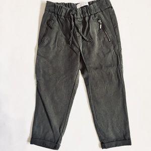 Zara Army Green Soft Jogger Pants